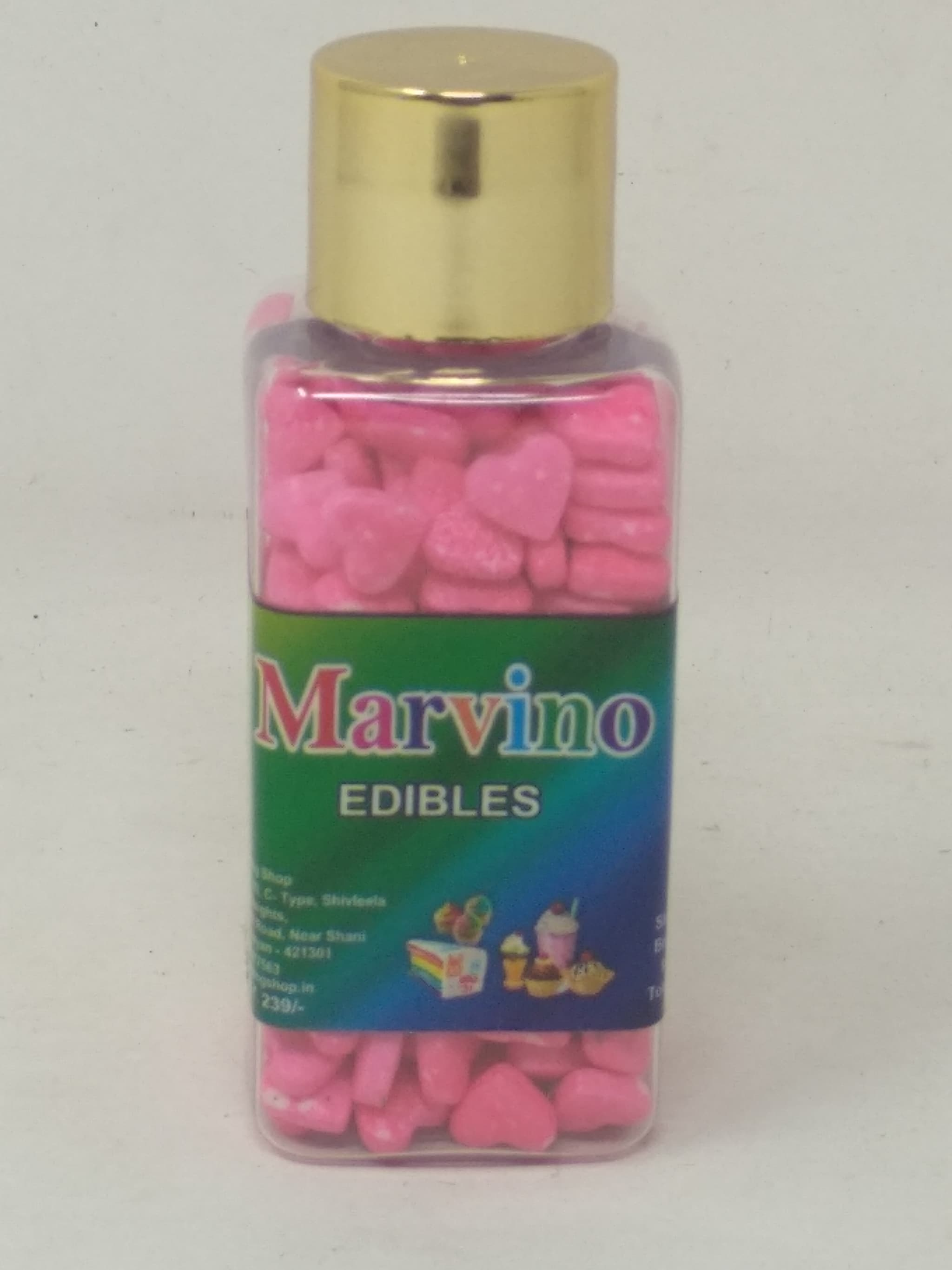Marvino Edibles Cake And Pastries Decoration ( Pink Colored Hearts)