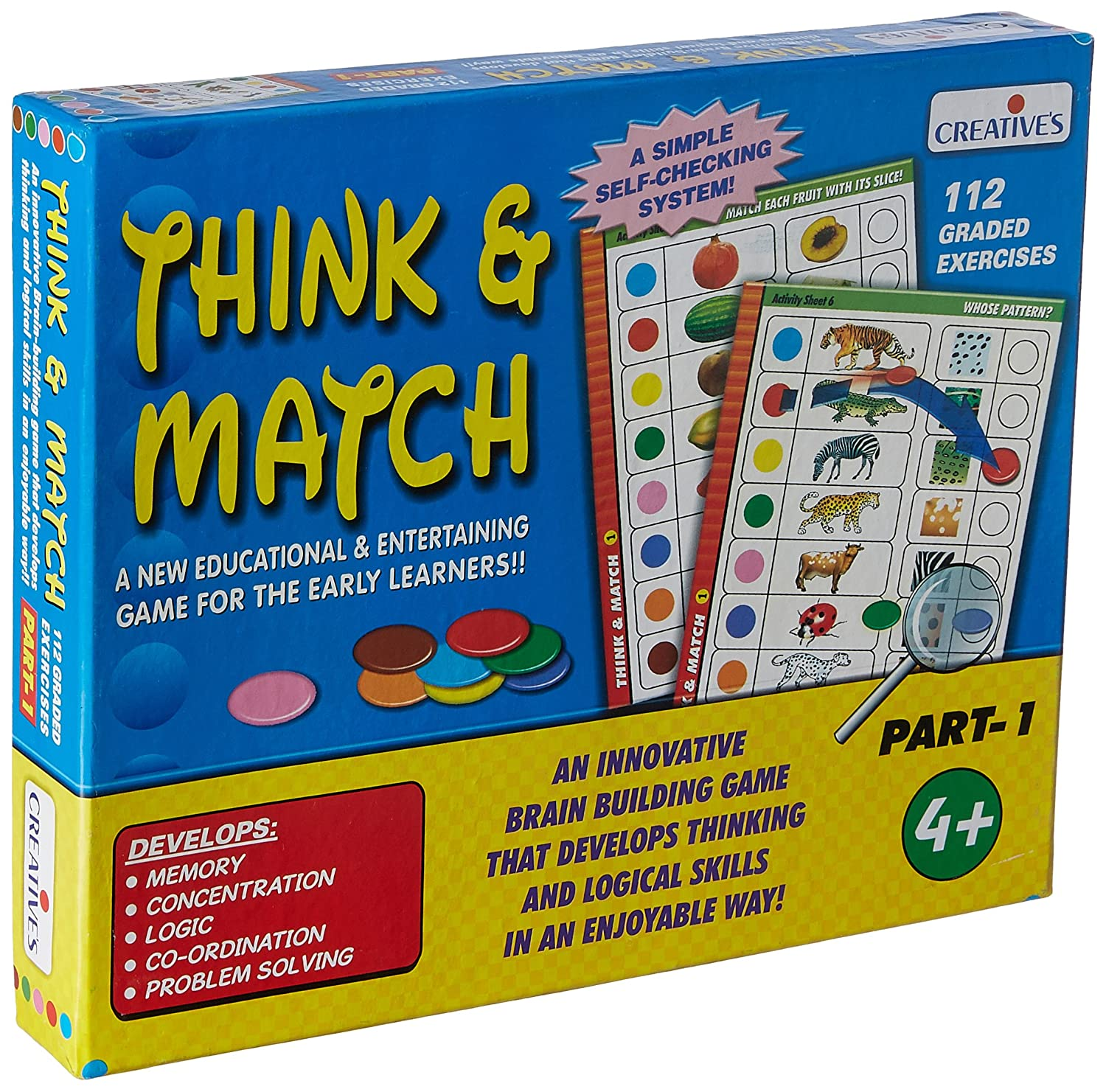 Tiny Souls Think And Match - 1 (Multi-Color) Will Improving Memory His/Her Memory,concentration,Logic,Coordination,Problem Solving