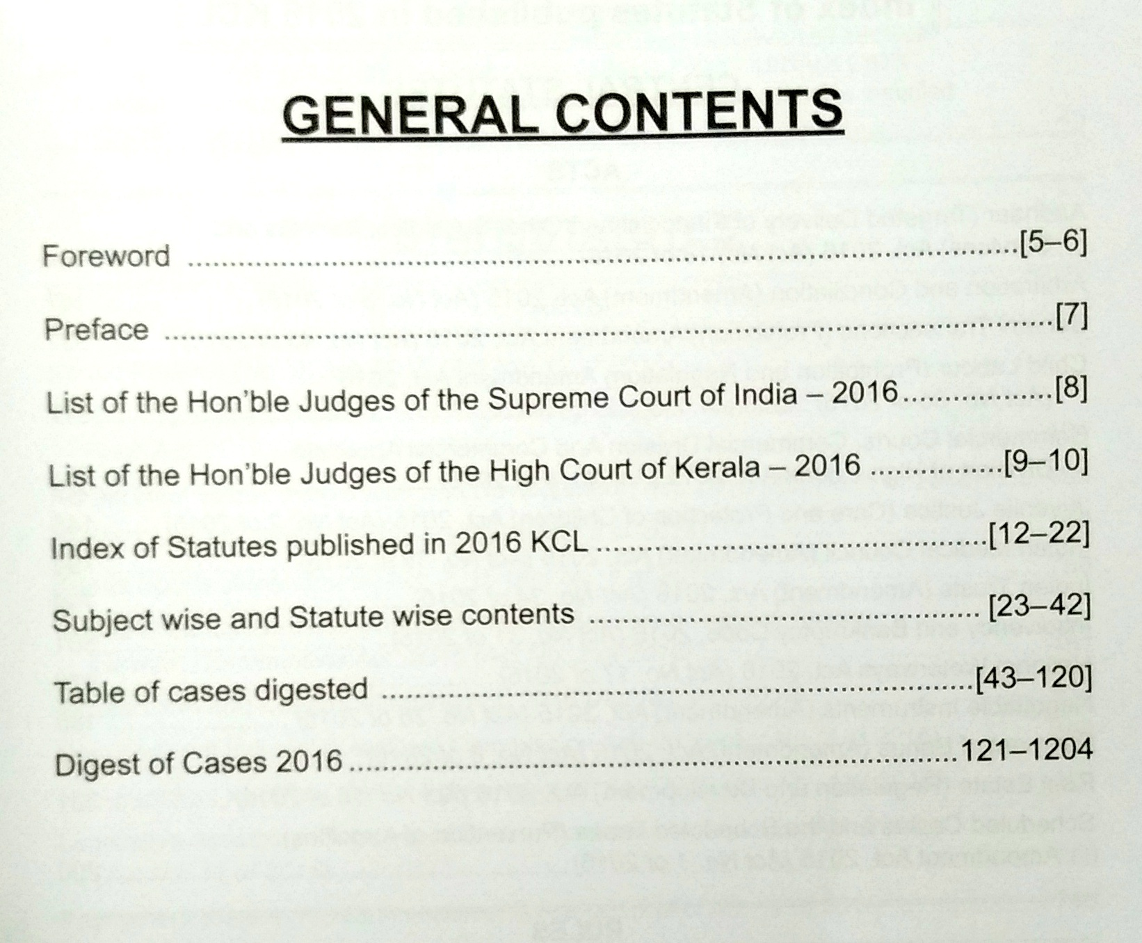 Supreme Court & Kerala High Court Yearly Digest, 2016 With Free CD