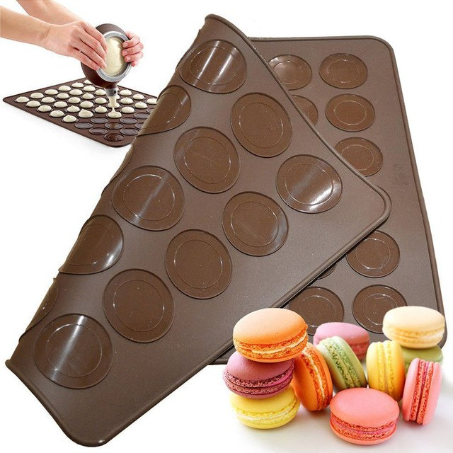 Silicone Pastry Macron Mat Sheet - Divena In (30 cavity)