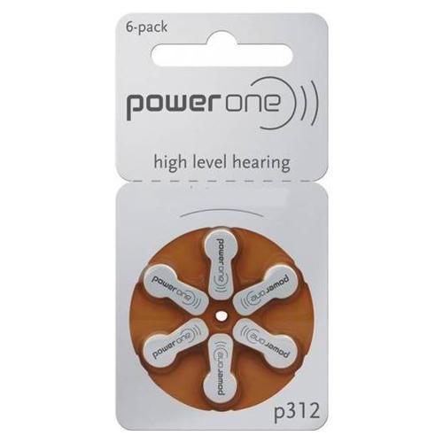 P312 Size Hearing Aid Batteries - 3 Packs (18 Batteries)