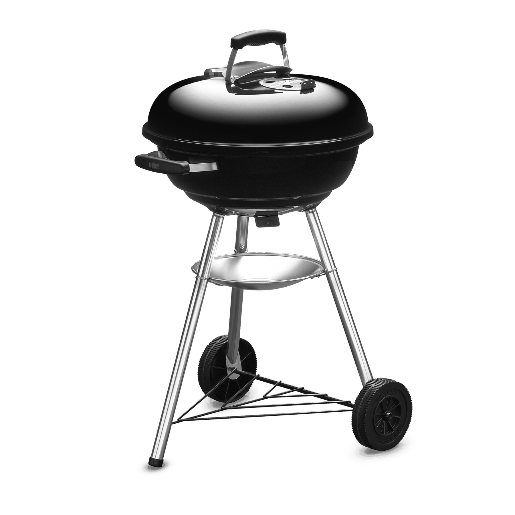 COMPACT KETTLE CHARCOAL GRILL 47CM WITH THERMOMETER BLACK 1221308