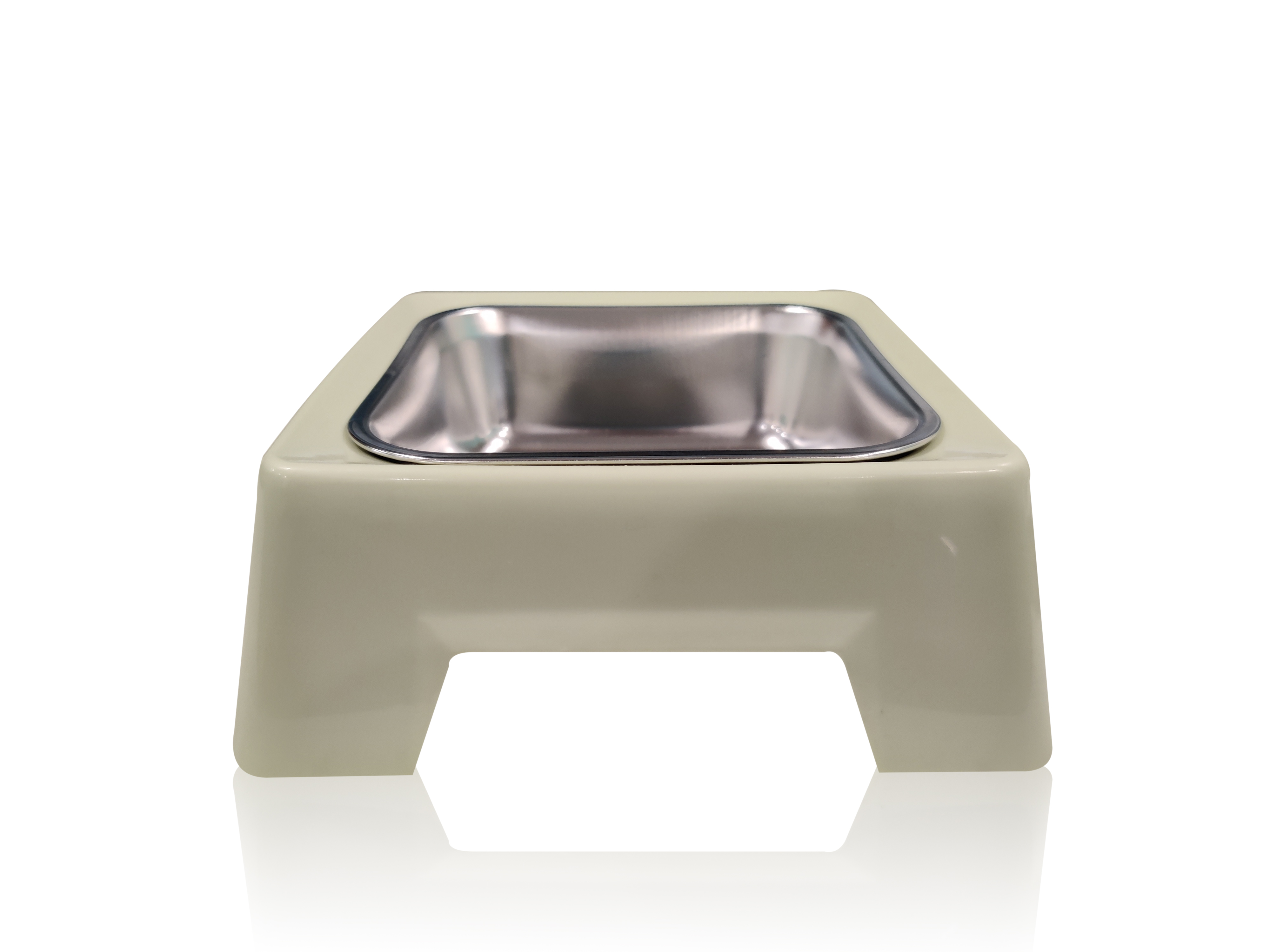 Pets Empire Square Stainless-Steel Pet Bowl Food Water Feeder Puppy Drinking Dish Cat Dog Feeding Food Bowls Pets Food Container Dog Accessories (GREEN)