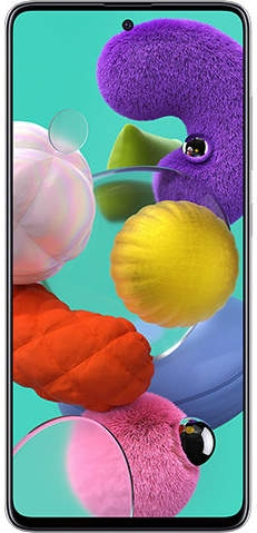 Samsung Galaxy A51 (RAM 6 GB, 128 GB, Prism Crush White)