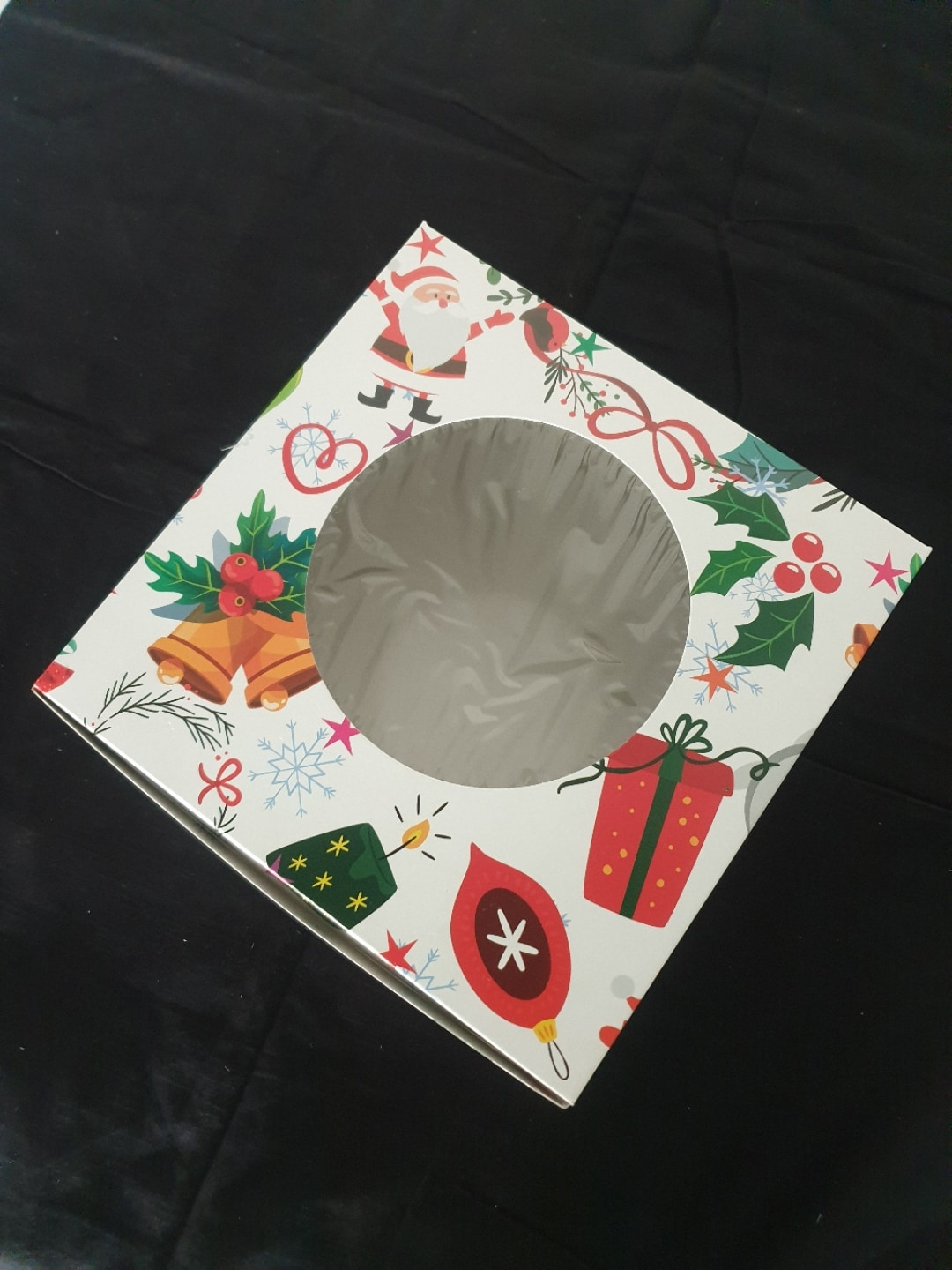 Merry Christmas Cake Box10x10x5