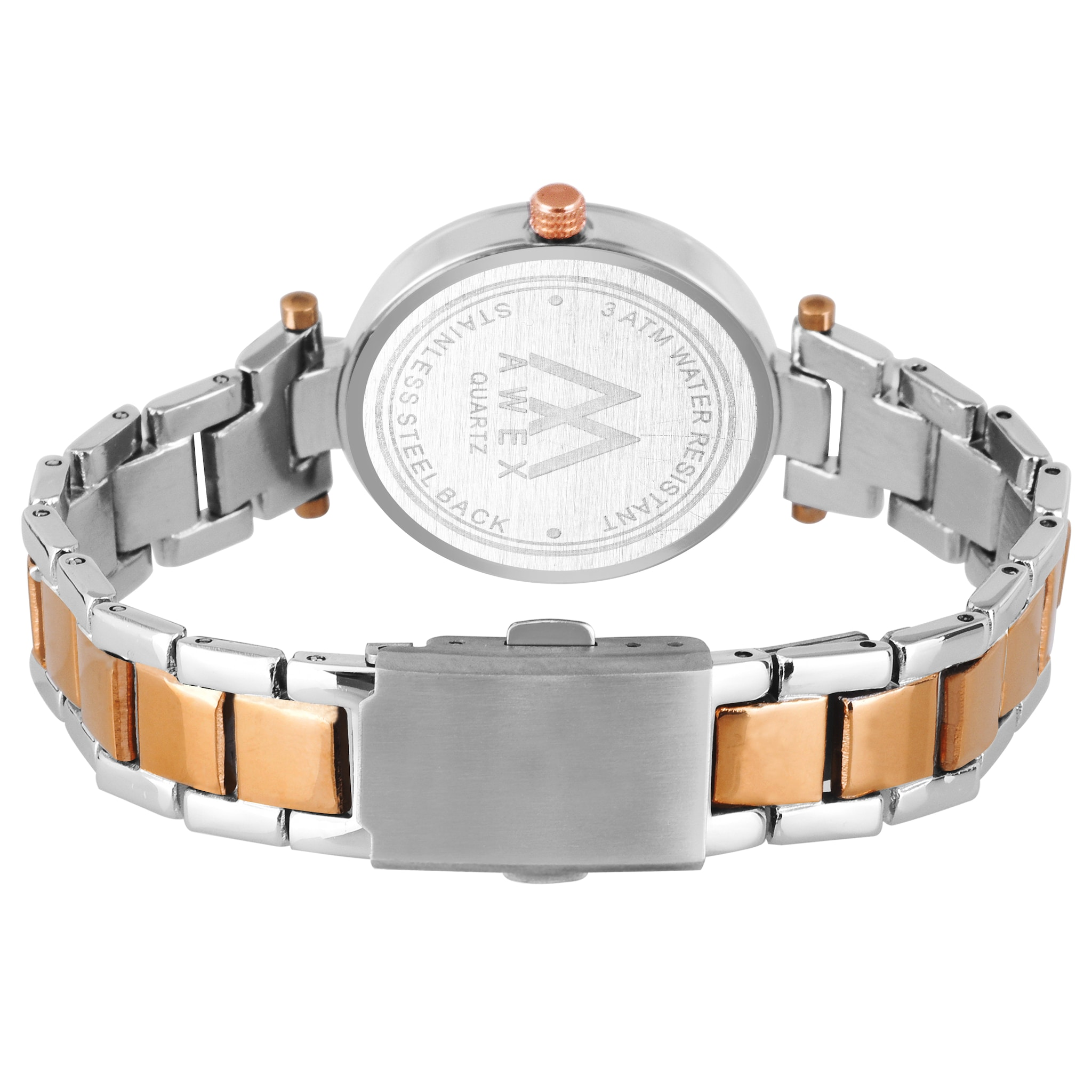 Awex Brown Bracelet Two Tone Women Watch