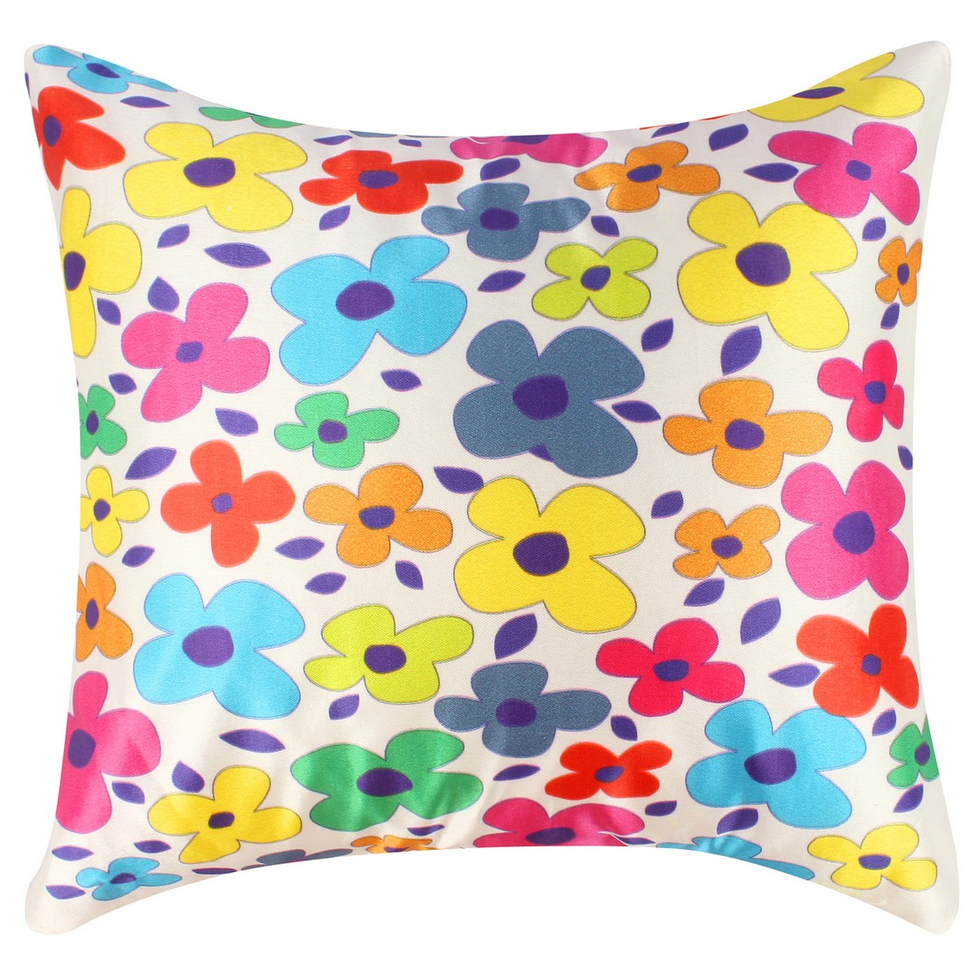 "Sattva Premium Digital Printed Cushion Cover CU011 With Filler Multicolor - Size 12""x12"""
