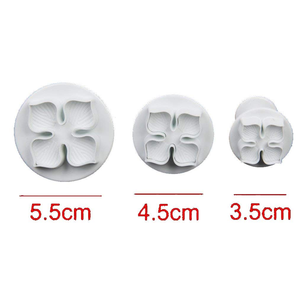 3 PCs Hydrangea Fondant Plunger Cookie Cutter Cake Tools - Divena In