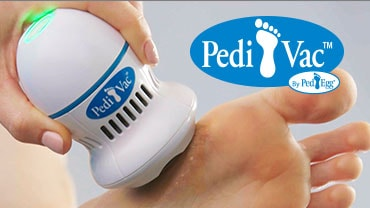 Pedi Vac By PedEgg Foot File And Callus Remover With Built-In Vacuum