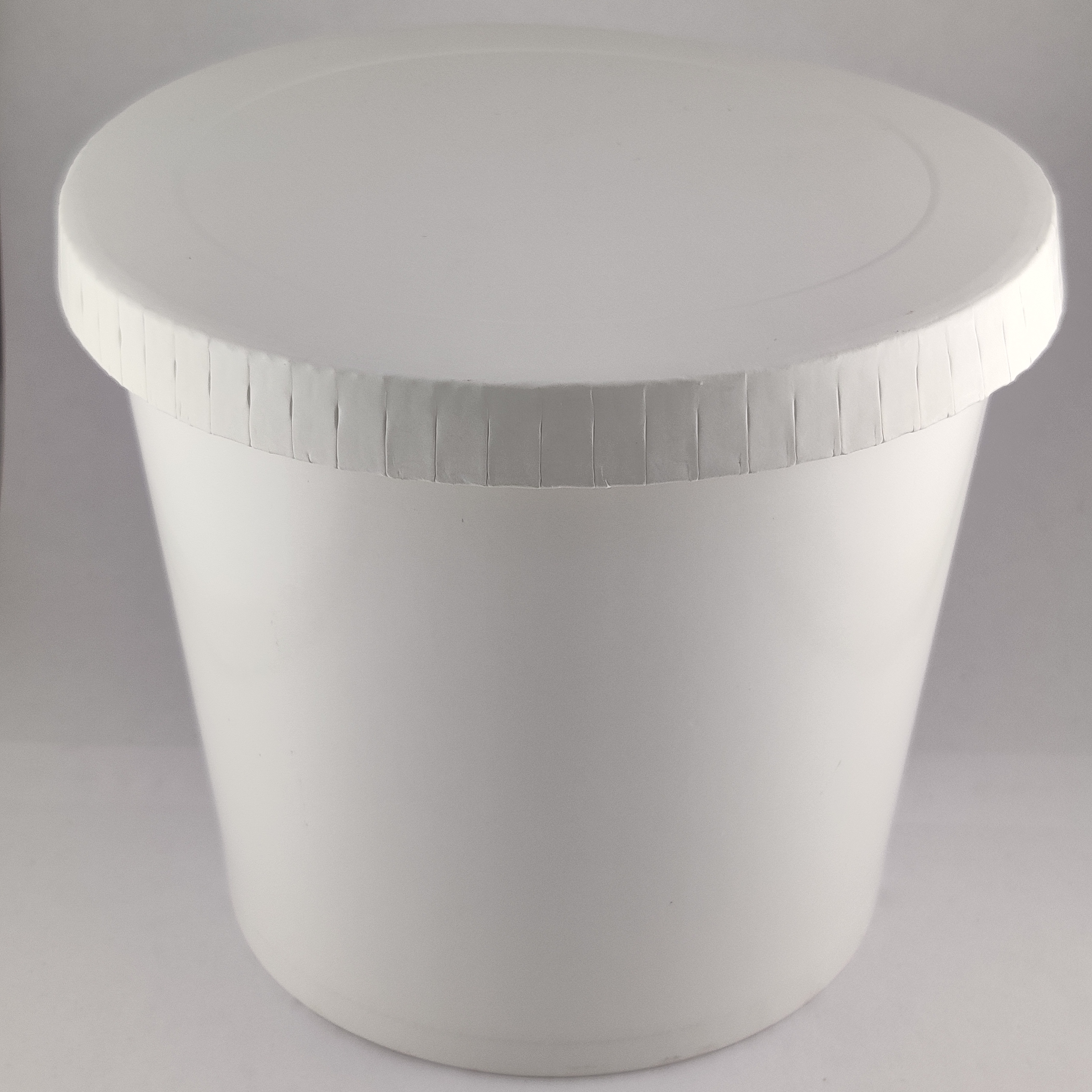 900ml Paper Container White Color/ Bowls With Paper Lids