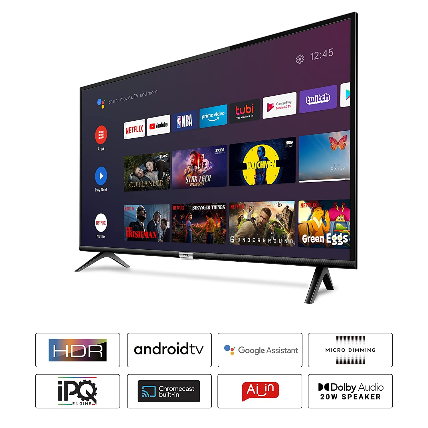 TCL 108 Cm (43 Inches) Full HD Certified Android Smart LED TV 43S6500FS