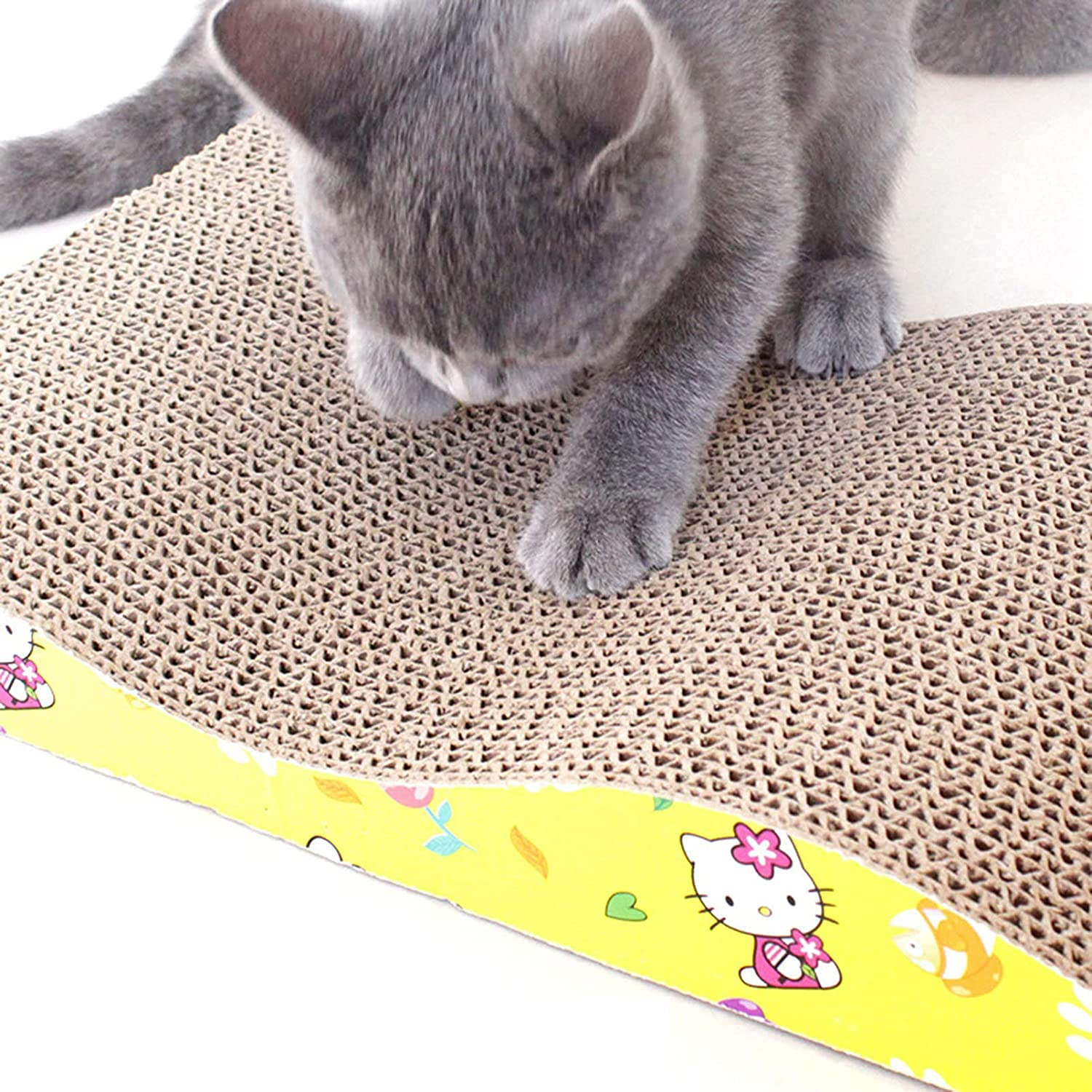 Pets Empire Cat Scratching Board, 3 Different Shapes Of Scratching Board, Recyclable Corrugated Cardboard, Scratch Resistance, With Catnip Leisure Sof