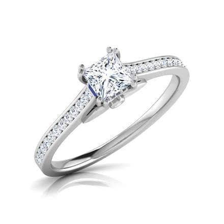 5cfe7c0c29507 Lily Elegant Solitaire Ring - Diamond Rings - Santosh Jewellers