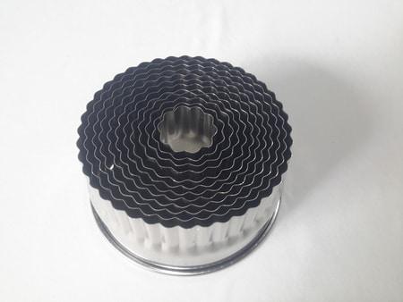 Cookie Round Carnation Cutter Set Steel