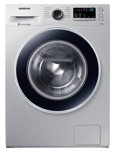 Samsung 7 Kg Fully-Automatic Front Loading Washing Machine (WW70J4263JS/TL, Silver)