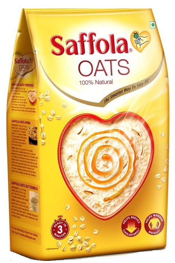 Saffola Oats 100% Natural 1kg+500 Gm Free