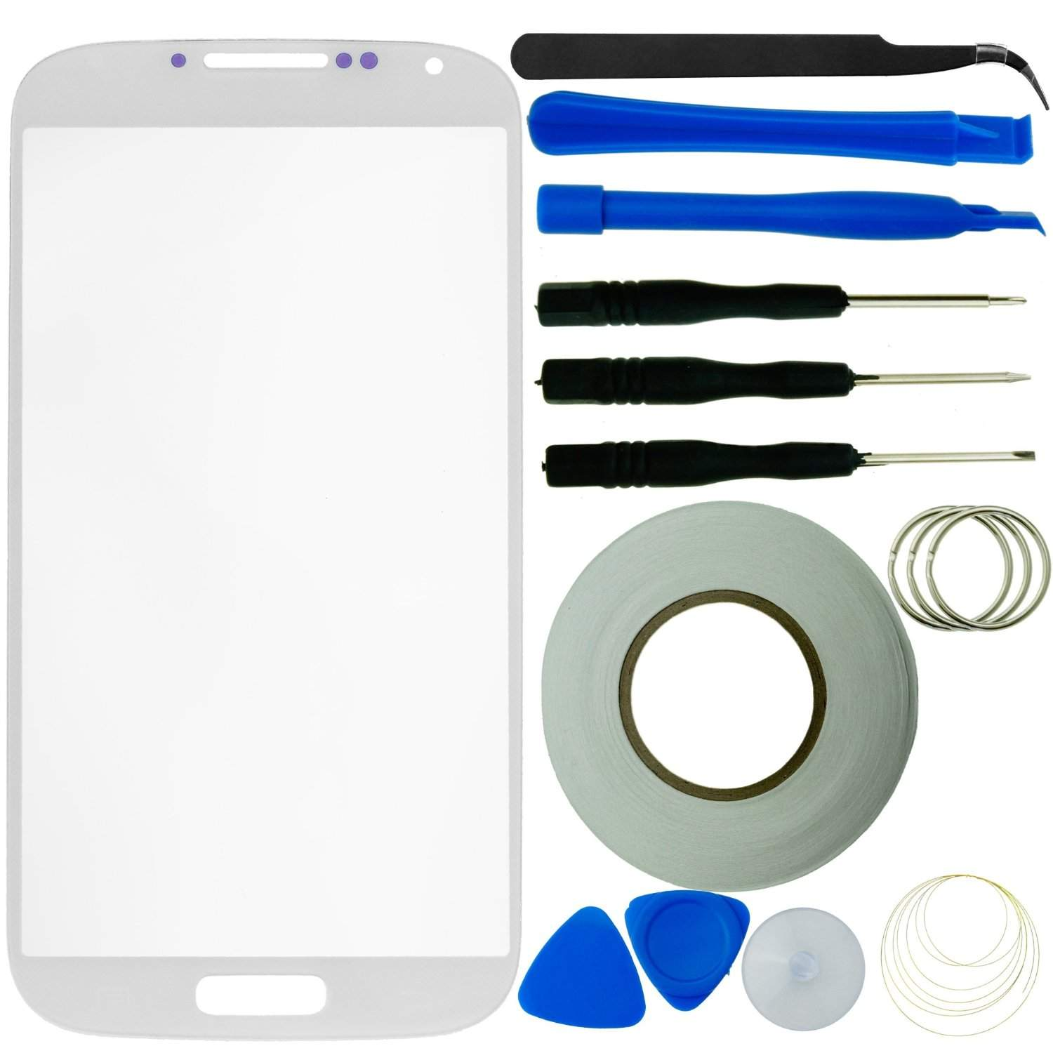 Samsung Galaxy S4 Screen Replacement Kit Including 1 Replacement Screen Glass (White)