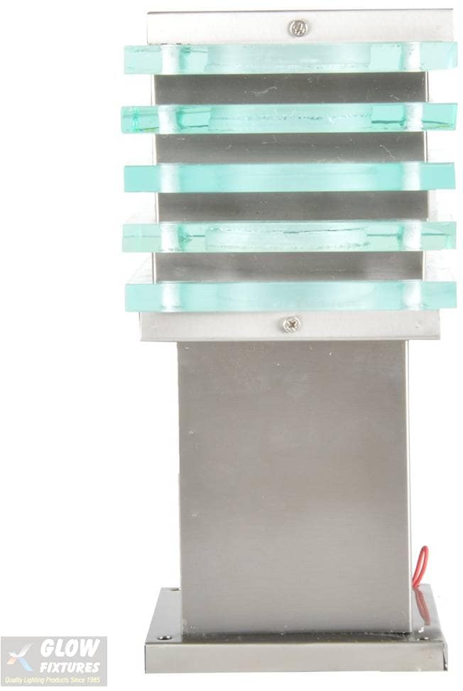 Glow Fixtures Garden Gate Light Fixture Ice Square Stainless Steel 5 -- Product Code: GL1199JUB-REG