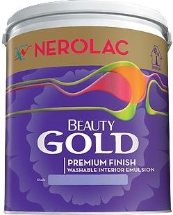 Nerolac Beauty Silver Paint - Blue (4 Litres)