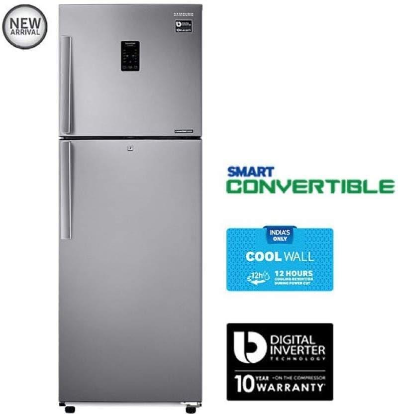 SAMSUNG 272 L Frost Free Double Door Refrigerator (RT30K3983SL, EZ Clean Steel)