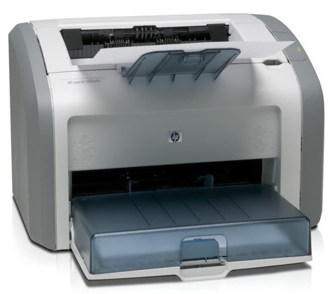 HP 1020 Plus Multi-Function Monochrome Laser Printer (White, Grey)