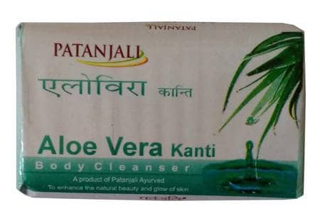 4 Patanjali Kanti Aloe Vera 75 Gm Bath And Body Cleanser Soap Health & Beauty
