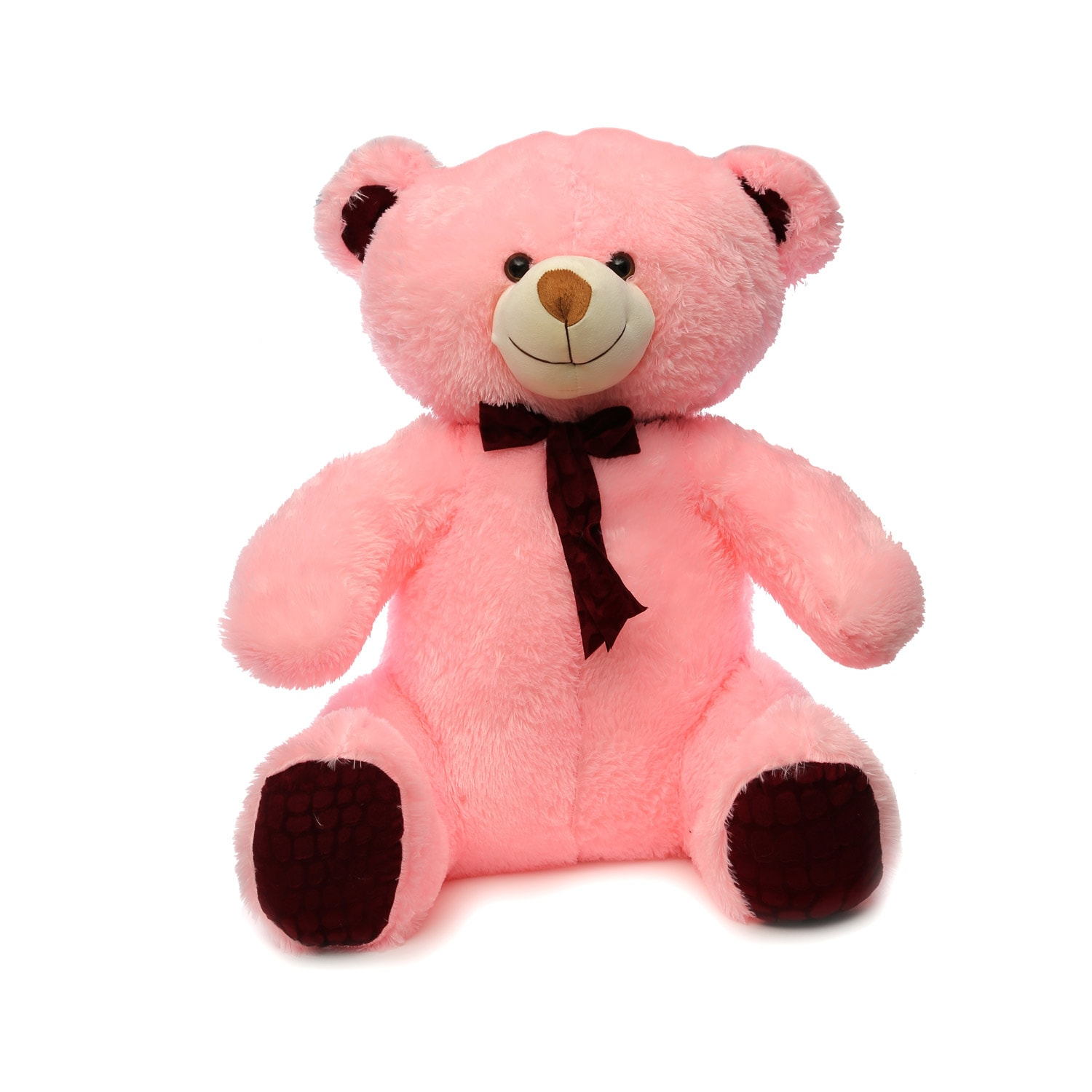 AT-1140 JUMBO SITTING TEDDY 75CMS PINK