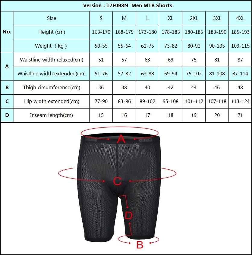 Cycling Inner Shorts (2XL)