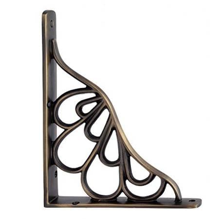Adonai Hardware Alvah Brass Decorative Shelf Bracket
