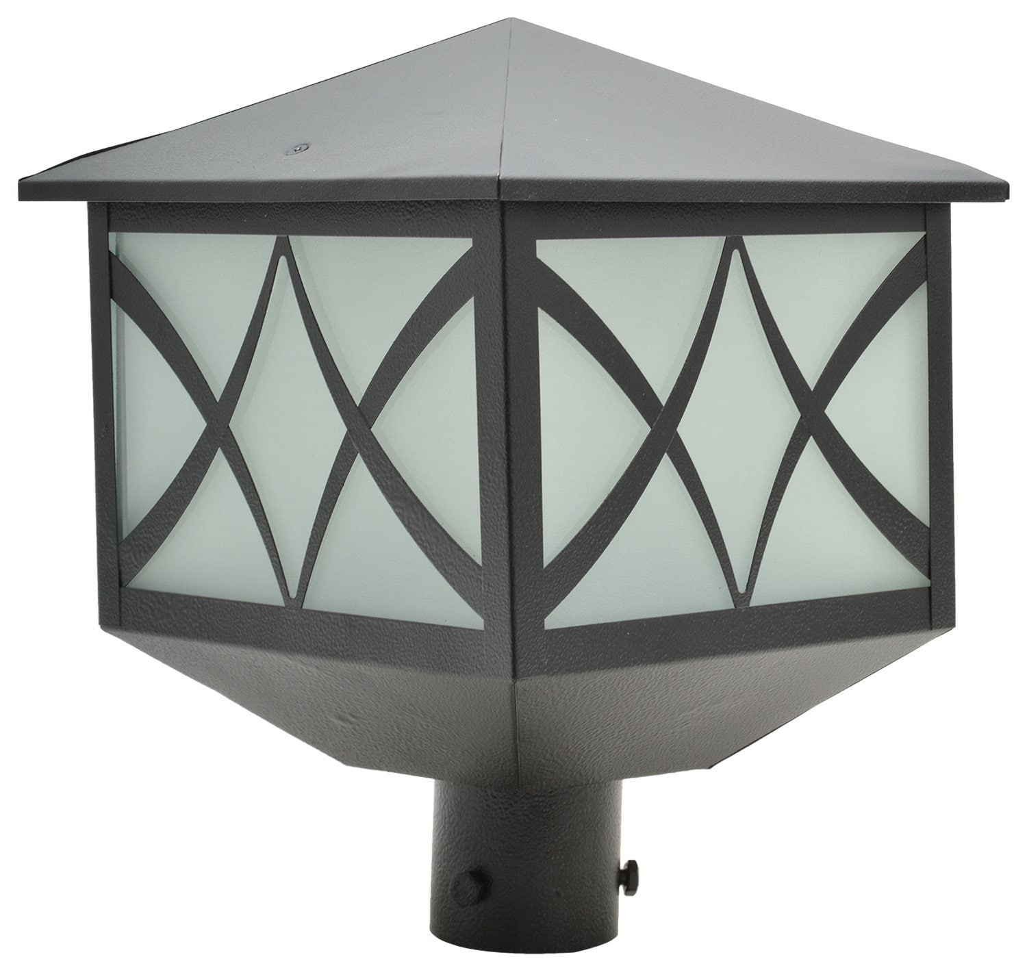 Glow Fixtures Garden Gate Light Qaud Black -- Product Code: GL1025SNE-SPL