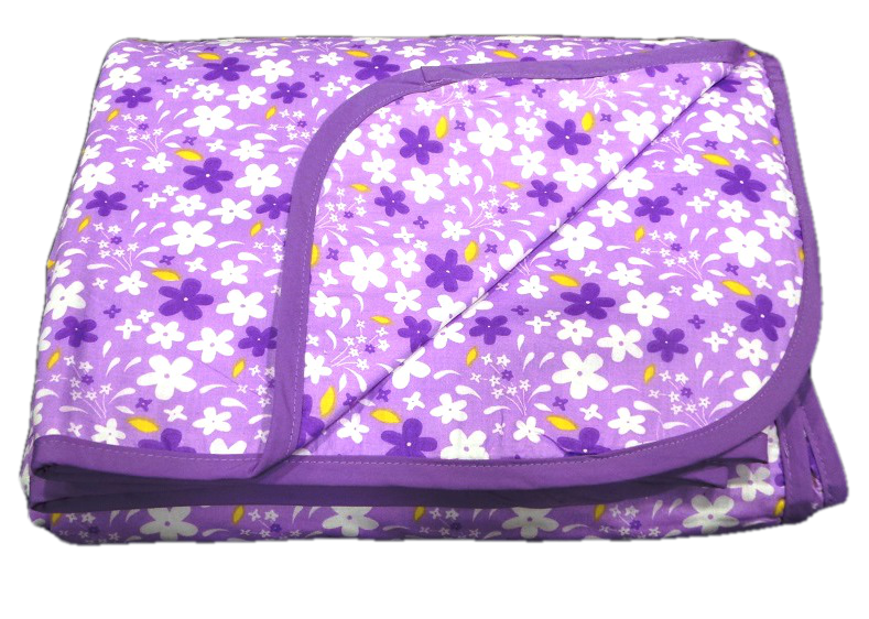 Aamran Dos-Jelly Purple Floral Dohar With Purple Border