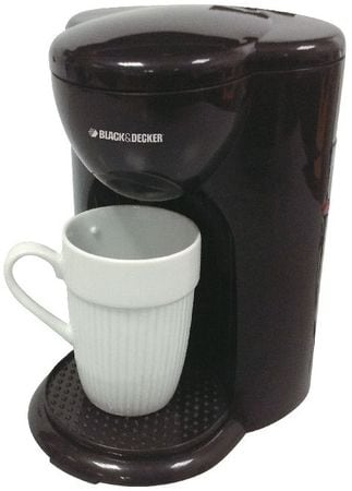 I Home Coffee Maker : Black & Decker 1 Cup Coffee Maker [DCM25] - Coffee Pod Machines - Kundan Stores