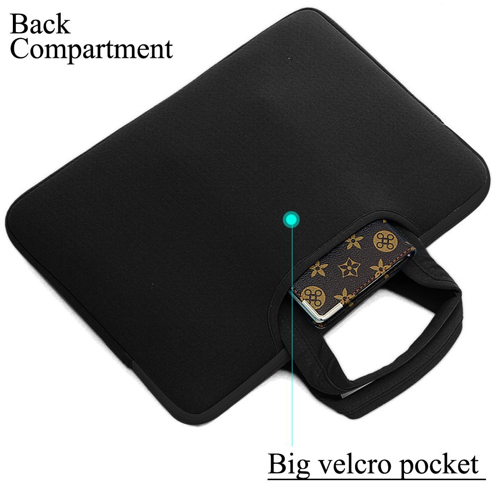 BRINCH(TM) Universal 15.6 Inch Laptop Sleeve Bag Case Pouch Carrying Handbag Briefcase + Accessory Bag For Apple Macbook Air , 15Macbook Pro (Fit All