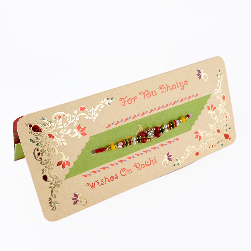 For You Bhaiya Wishes On Rakhi(with Roli And Chawal Pack)