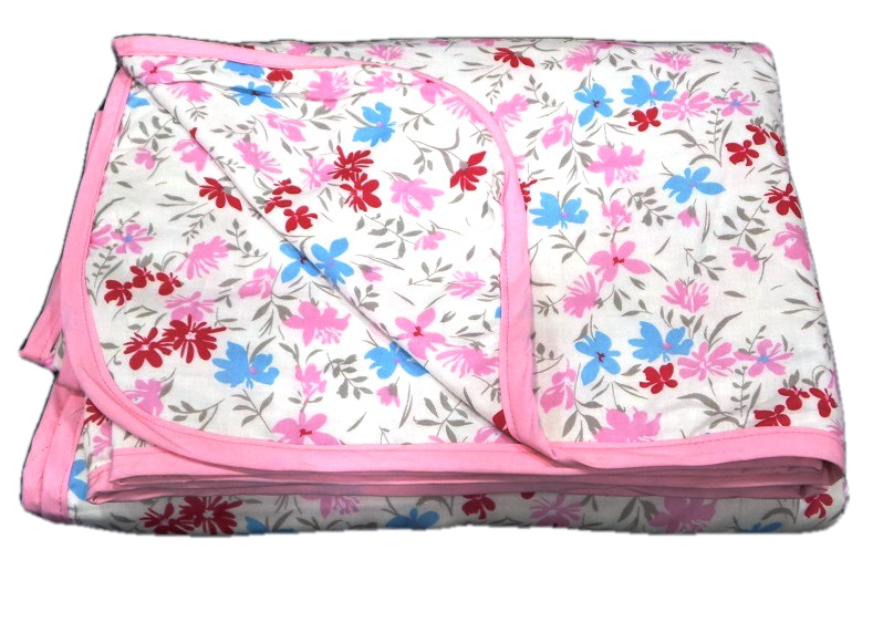 Aamran Dos-Jelly RPB Floral Dohar With Pink Border