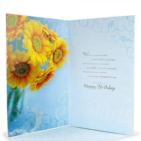 Archies sunflower birthday card bdy02406 greeting cards arpan archies sunflower birthday card bdy02406 greeting cards arpan collection bookmarktalkfo Image collections
