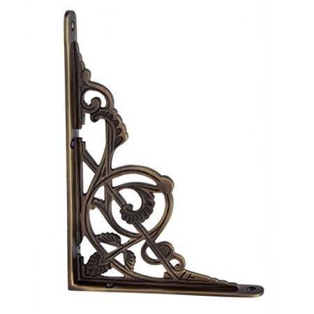 Adonai Hardware Maasiai Brass Decorative Shelf Bracket