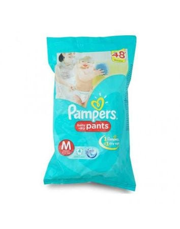 Pampers Baby-Dry Pants (M) 7-12Kg - 4 Pc