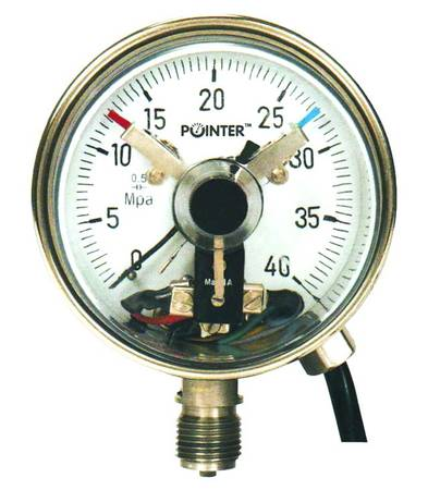 "POINTER - Electric Contact Gauge  +  Free Cal. Certificate ( 0-150 Kg/cm² , 4"" )  (T/P/PRG/POI/150/001)"