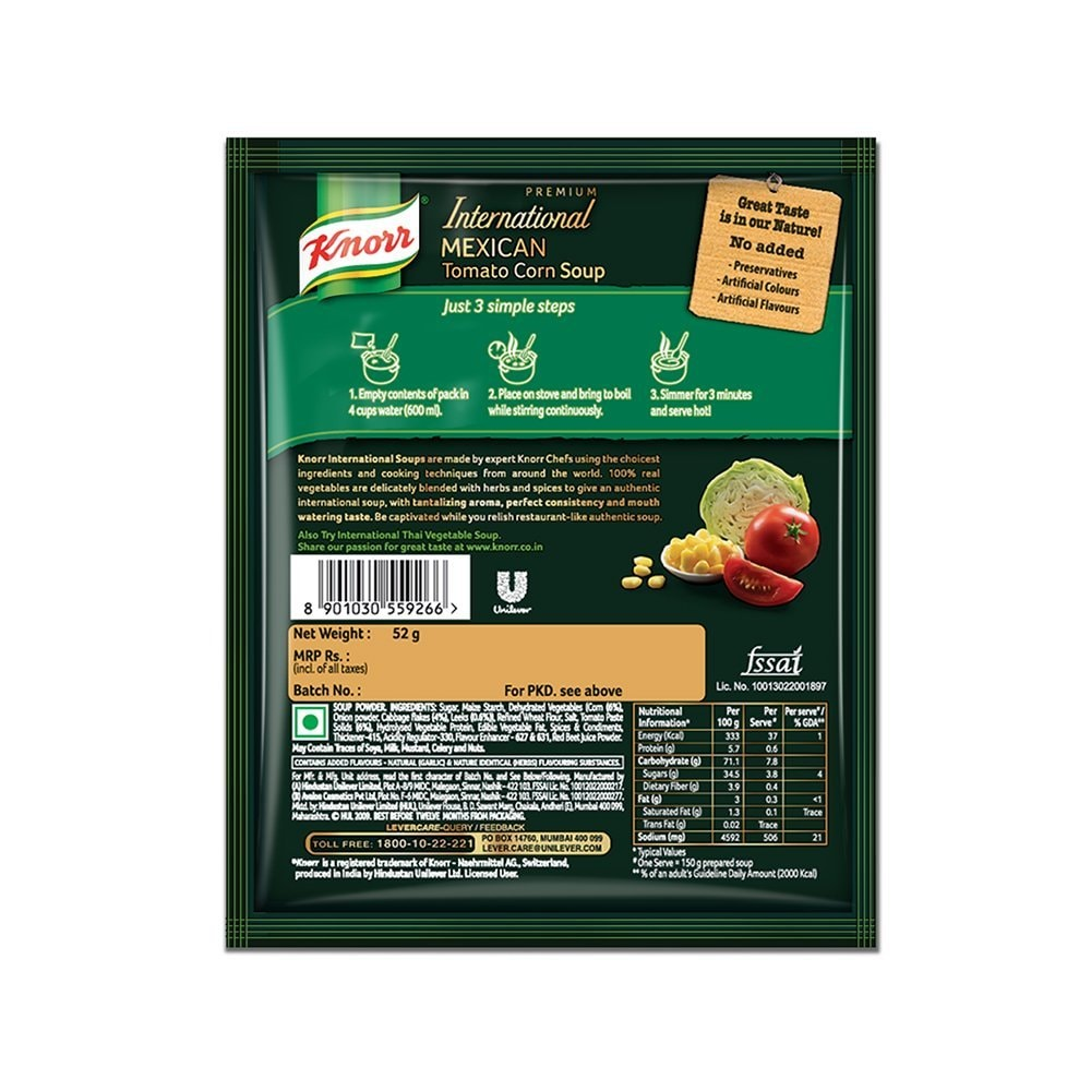 Knorr Mexican Tomato Corn Soup 52 Gm