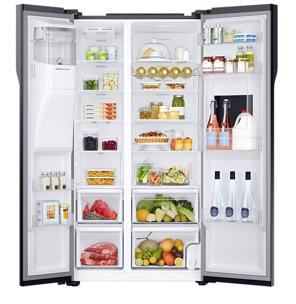 Samsung RS51K56H02A Side By Side Refrigerator (571 Litres, Silver)
