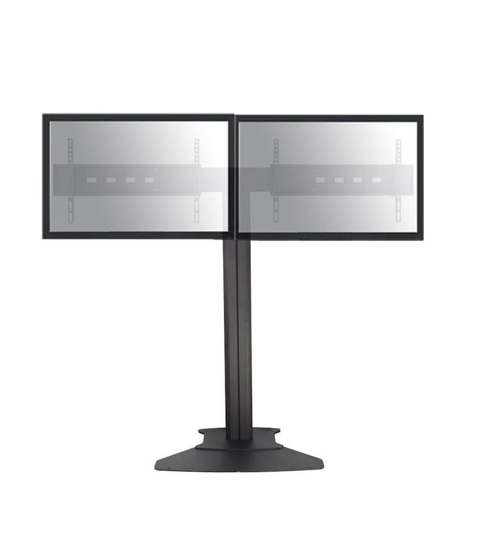 Dual TV Floor Stand Flat Base (Without Wheels)