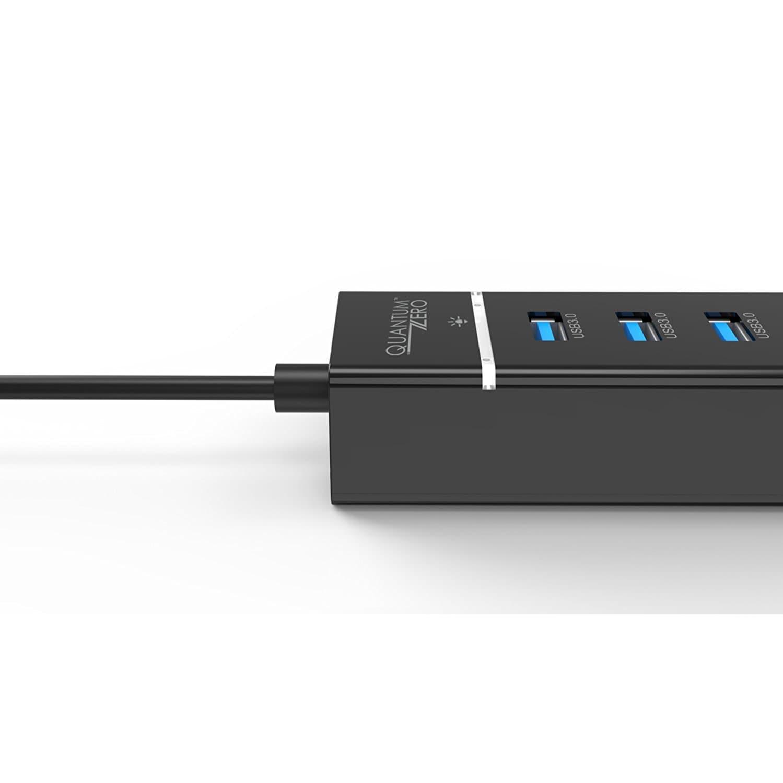 QuantumZERO QZ-HB03 USB 3.0 4-Port Bus Powered Hub [VIA VL812 Rev B2 Chipset]