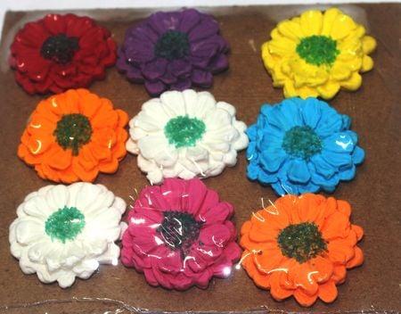 Flat Gerbera Small Colorful Sugarcraft