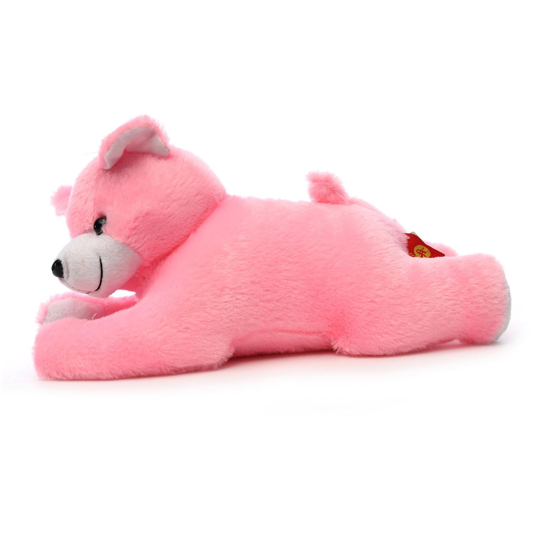 AT-1182-PINK LYING BEAR