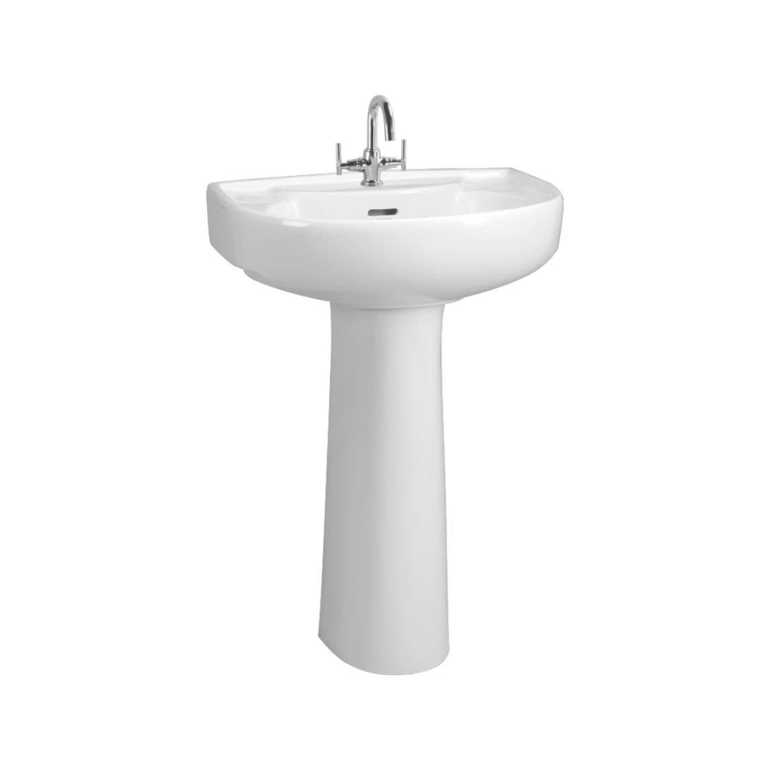 Cera Casablanca White Ceramic Wash Basin