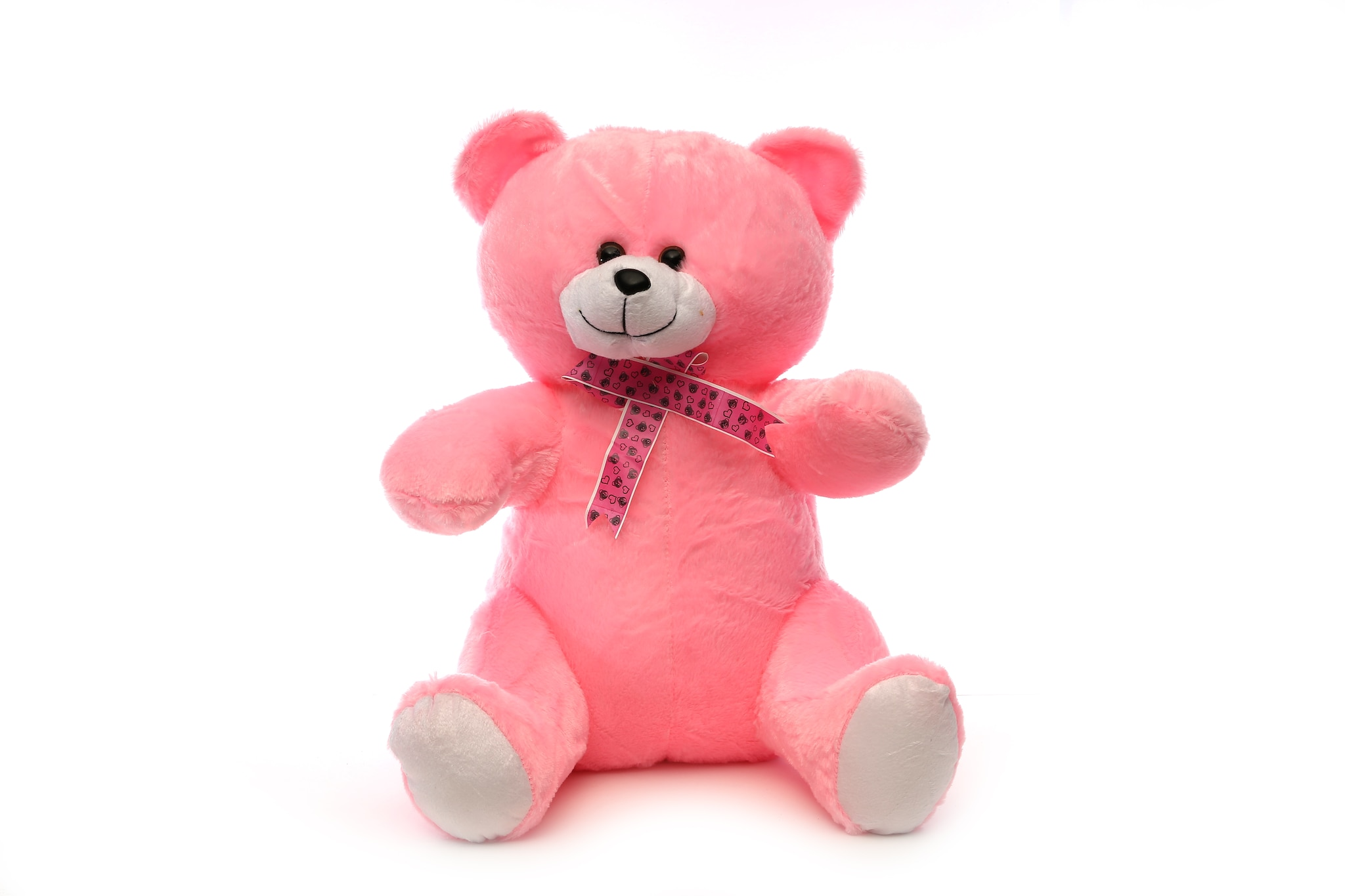AT-1145-PINK SITTING TEDDY 40CM