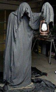 black grey mysterious lantern man halloween scary props decoration party - Scary Props