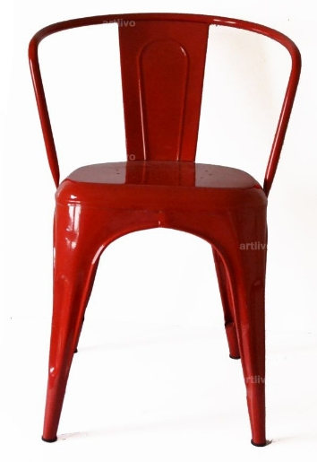 Artlivo Popart French Arm Chair Red [SE030]