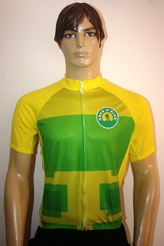 Half Sleeve Cycling Jersey TNR (Yellow & Green,M)